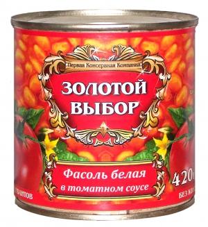 Фасоль белая в т/с 420г