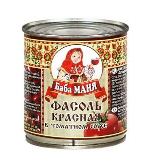 Фасоль красная в томатном соусе 310г