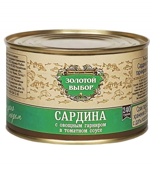 Сардина с овощным гарниром в т/с 240 г
