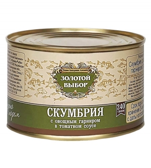 Скумбрия с овощным гарниром в т/с 240 г