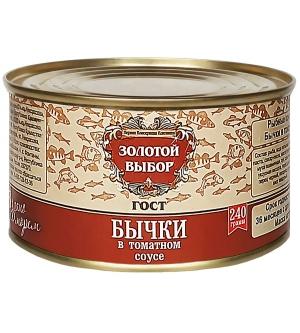 Бычки в томатном соусе 240 г