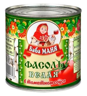 Фасоль белая в томатном соусе 425г