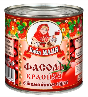 Фасоль красная в томатном соусе 425г