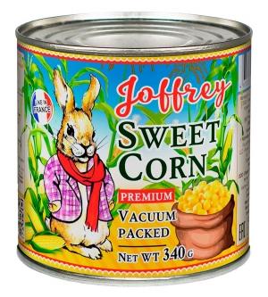 Кукуруза сахарная в зёрнах стерилизованная в вакуумной упаковке 425 мл