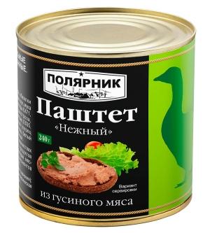 Паштет «Нежный»  из гусиного мяса 240 г