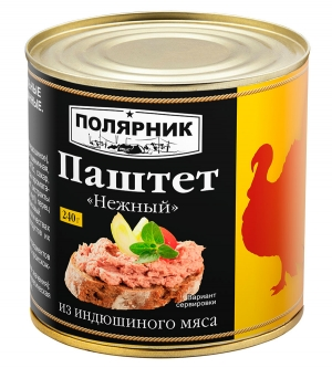 Паштет «Нежный»  из индюшиного мяса 240 г