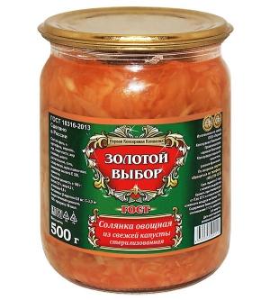 Солянка овощная 500г